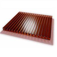 Поликарбонат сотовый Skyglass коричневый 10 мм 2,1х12 м
